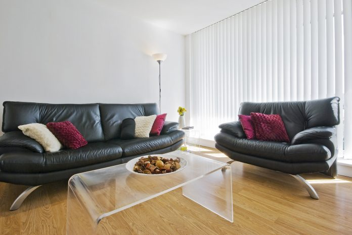 Living room with timber floor and sofa